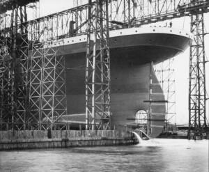 Titanic prije porinuća