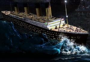 Titanic udara u santu leda