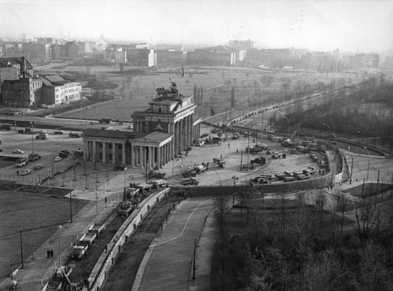Berlin, Brandenburger Tor, Mauerbau