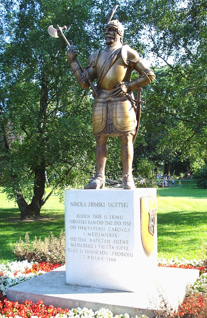 Nikola Šubić Zrinski - spomenik u Čakovcu